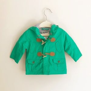 Mayoral Green Toggle Raincoat